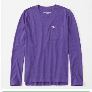 NWT Boys Abercrombie kids purple long sleeve